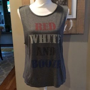 HH Haute Hippie Red White and Booze Tank Top